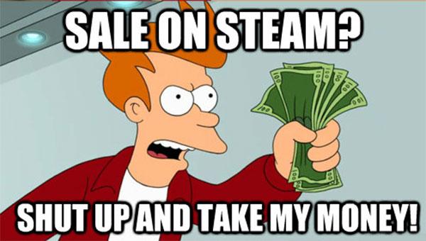 Con i saldi estivi di Steam ormai alle porte, aumenterà esponenzialmente la condivisione di immagini di questo tipo su forum e social network