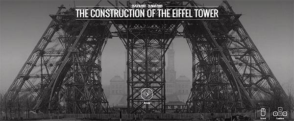 La costruzione della Tour Eiffel sul sito del Google Cultural Institute