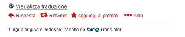 Twitter col traduttore fornito da bing webnews for Traduzione da spagnolo a italiano