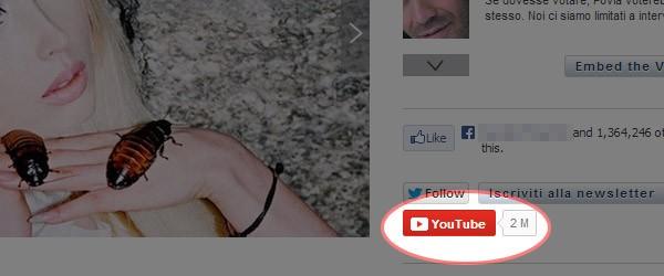 Il nuovo pulsante per l'iscrizione ai canali YouTube, da includere in qualsiasi pagina Web  Leggi qui: YouTube consente l'embed del pulsante Iscritivi
