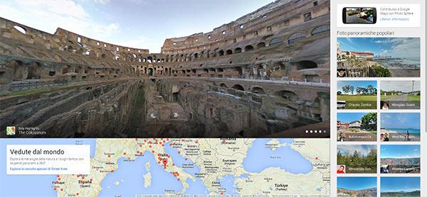 Views, un portale che raccoglie le immagini panoramiche realizzate con la funzionalità Photo Sphere dei dispositivi Android