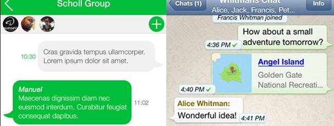 iOS 7 Redesigns: Whatsapp