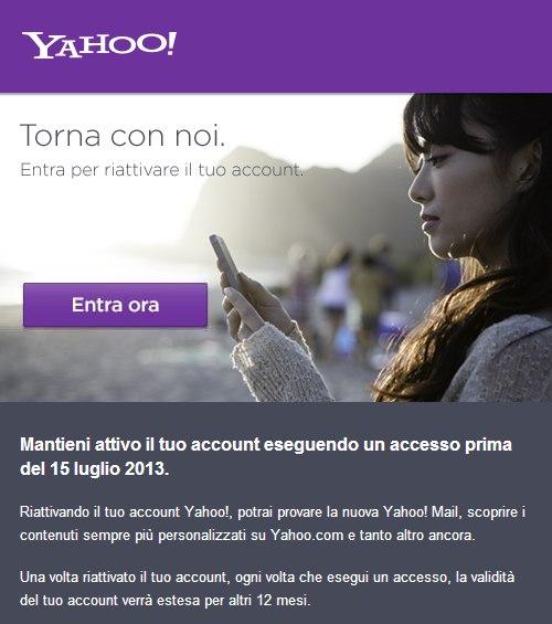 Avviso da Yahoo Mail