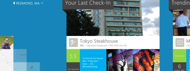 Foursquare per Windows 8