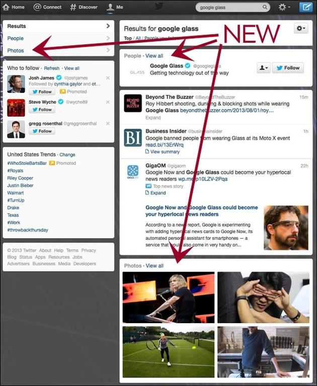 La ricerca universale di Twitter.