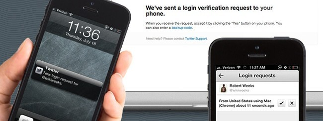 Twitter verifica login