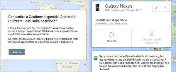 Gestione dispositivi Android, lo strumento online lanciato da Google per ritrovare e gestire il proprio smarphone o tablet perso oppure rubato