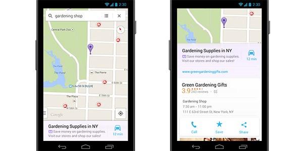 Inserzioni geolocalizzate nella versione Android di Google Maps