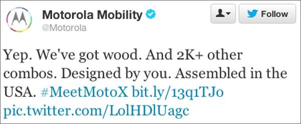 Il post di Motorola Mobility rimosso da Twitter