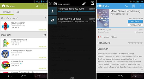 Le novità del Google Play Store introdotte oggi dall'aggiornamento 4.3.10