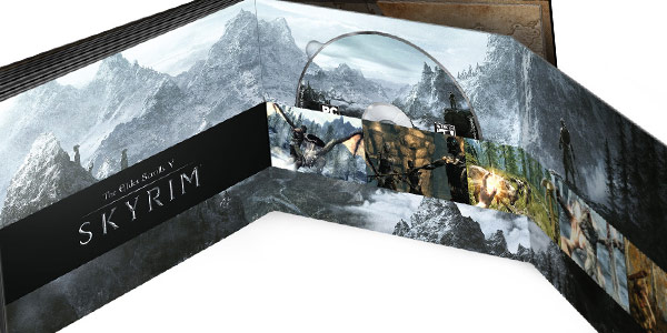Il packaging di Skyrim nella The Elder Scrolls: Anthology