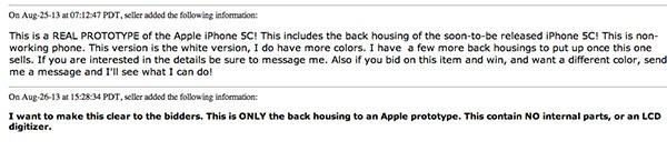iPhone 5C su eBay