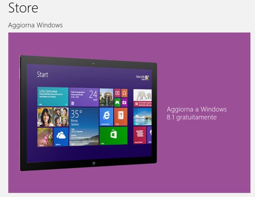 Update a Windows 8.1 da Windows Store
