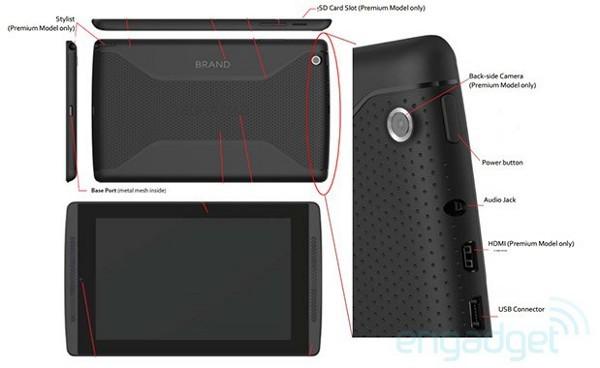 Nvidia Tegra Tab, le specifiche del modello Premium
