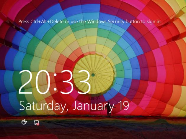 Uso della combinazione Ctrl+Alt+Del in Windows 8.
