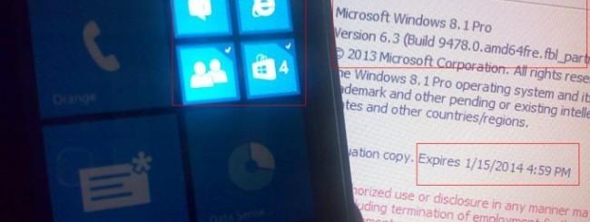 Windows Phone 8.1 leaked