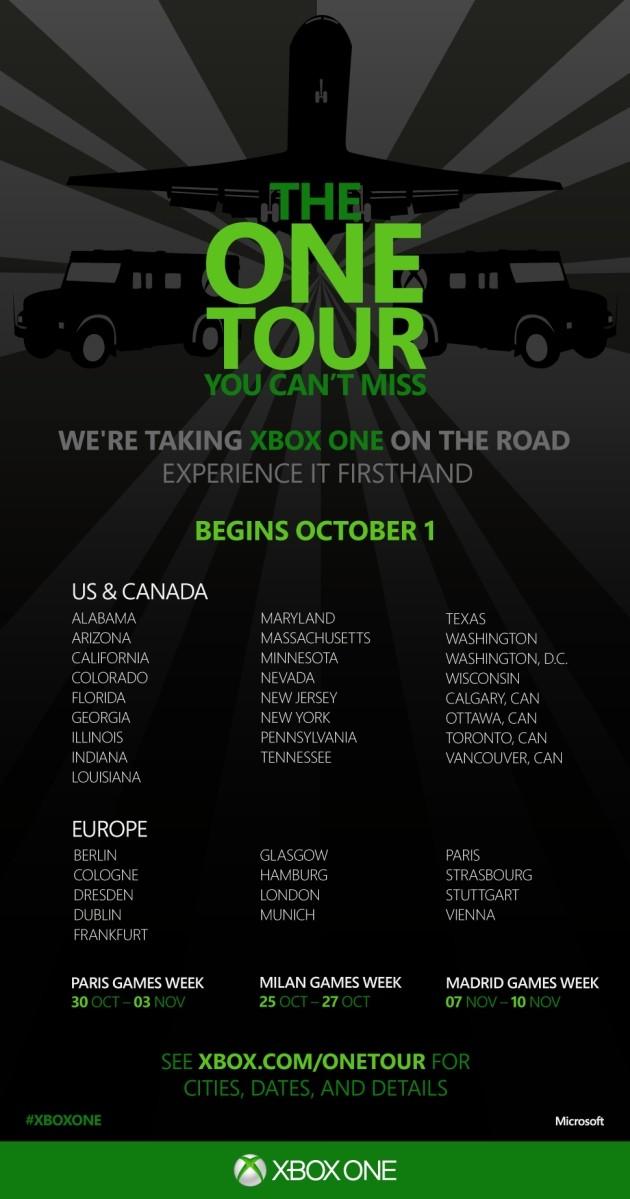 Xbox One Tour: la nuova console Microsoft in giro per il mondo prima del 22 novembre.
