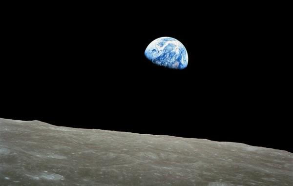 La Terra fotografata dalla Luna, dagli astronauti dell'Apollo 8