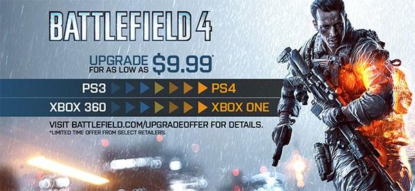 L'offerta di Electronic Arts per l'upgrade alle versioni next-gen di Battlefield 4