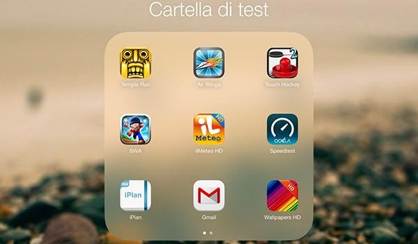 Cartelle di iOS 7