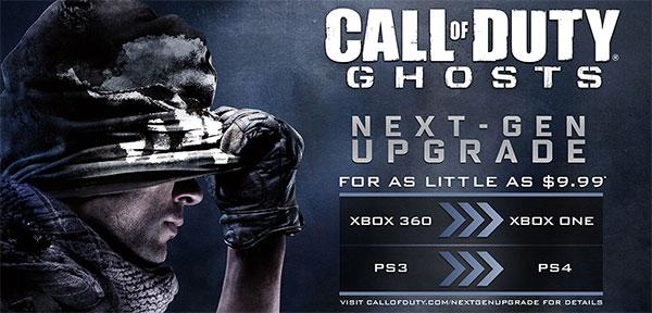 L'offerta di Activision per l'upgrade alle versioni next-gen di Call of Duty: Ghosts