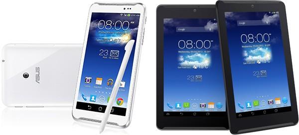 ASUS FonePad Note 6 (a sinistra) e ASUS FonePad 7 (a destra)