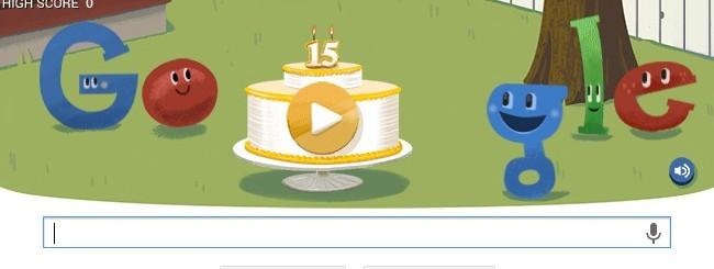 Google, doodle per i 15 anni