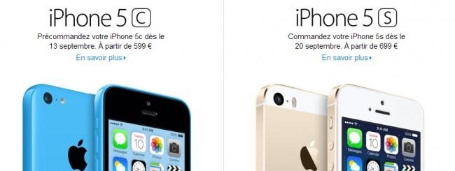 Prezzi iPhone 5c e iPhone 5S