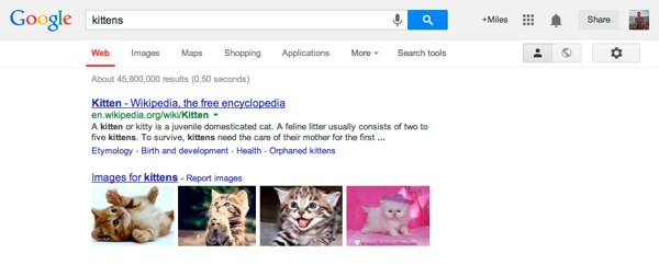 Interfaccia Google 2013