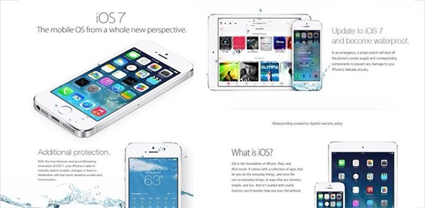 iOS 7 waterproof