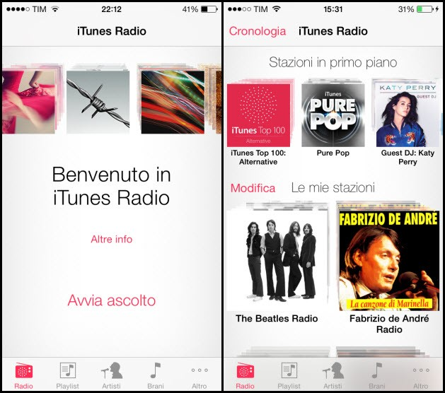 iTunes Radio in Italiano