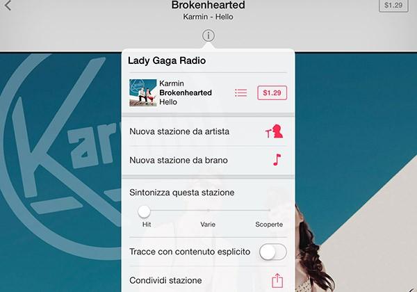 iTunes Radio, info aggiuntive