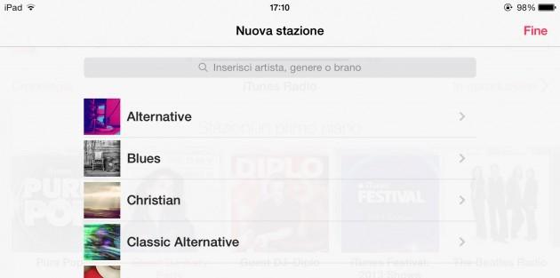 iTunes Radio, ricerca