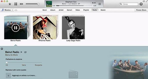 Sincronizzazione iTunes