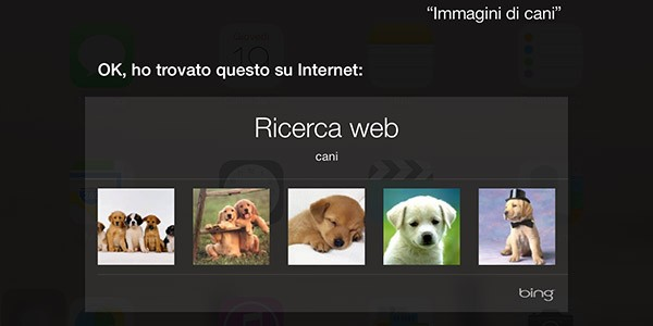 Siri, ricerca immagini