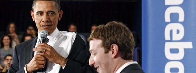 20 aprile 2011: Obama al town hall nel quartier generale di Facebook al Palo Alto. In soli due anni i rapporti tra il presidente e le società tech sono molto peggiorati.