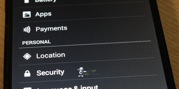 Il menu Impostazioni in Android 4.4 KitKat