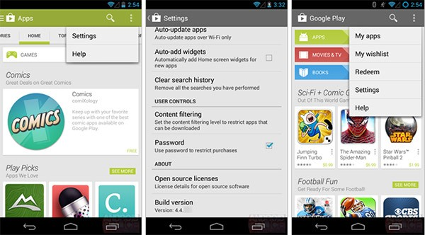 Screenshot per l'applicazione Google Play Store 4.4