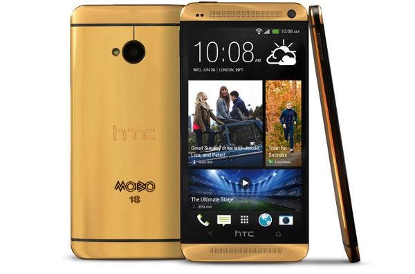 HTC One in edizione limitata con scocca d'oro 18 carati