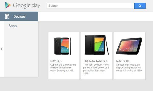 Nexus 5 per errore sul Google Play Store