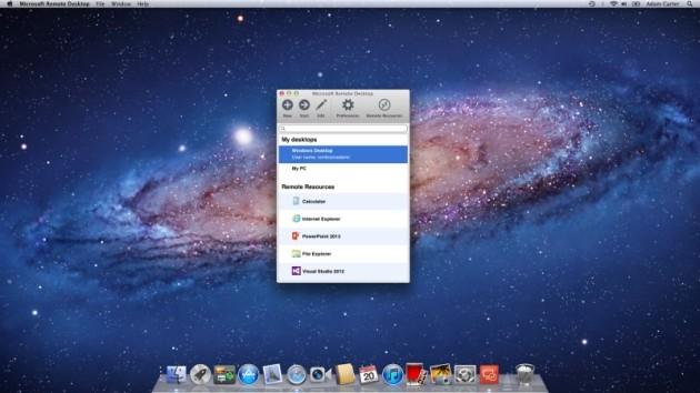 Microsoft Remote Desktop per Mac OS X.