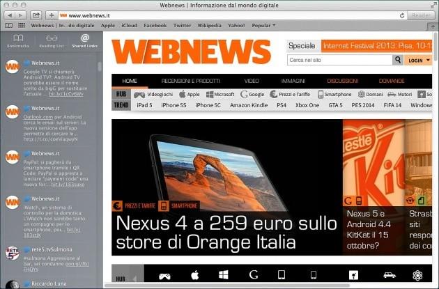 Safari OS X Mavericks
