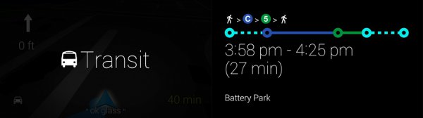 Transit sui Google Glass