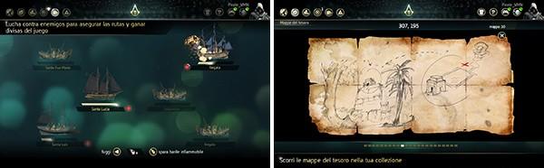 Screenshot per l'app Companion di Assassin's Creed 4: Black Flag, disponibile su Android e iOS