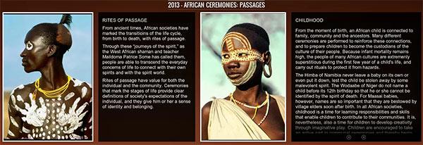 Due immagini tratte dall'archivio Cerimonie Africane del Google Cultural Institute