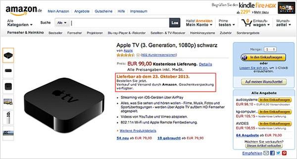 Apple TV su Amazon