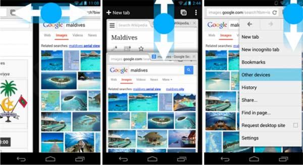Le nuove gesture per Chrome su Android