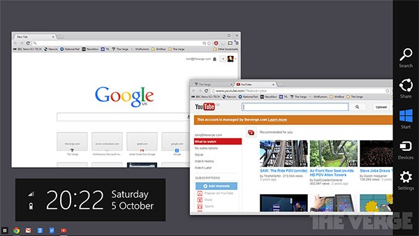 I prossimi aggiornamenti del browser porteranno l'interfaccia di Chrome OS su Windows 8