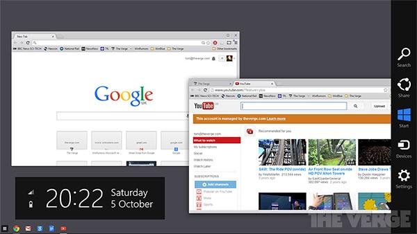 I prossimi aggiornamenti del browser porteranno l'interfaccia di Chrome OS su Windows 8