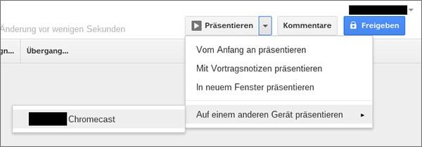 Uno screenshot mostra il futuro supporto a Google Drive da parte di Chromecast